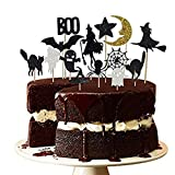 14PCS Halloween Dessert Decoration Topper Set Witch Spider Set...