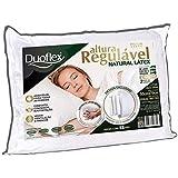 Travesseiro Premium Altura Regulável Natural Látex, Duoflex, 100% Algodão, Branco, 50x70 cm