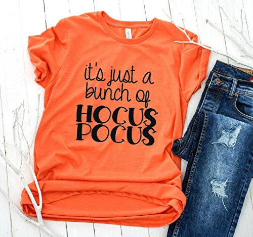 It's Just a Bunch of Hocus Pocus Halloween Shirts for Women-You Choose Design Color by The Southern Camellia