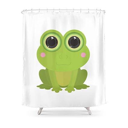 Amazon Sukuraceci Bathroom Frog Shower Curtain 72 By Home