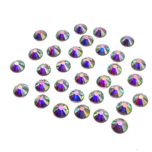 288pcs 30ss 6mm Rhinestones Nail Crystals AB Nail Art Rhinestones Round Flatback Glass Gems Stones Beads for Nails Decoration Crafts Eye Makeup Clothes Shoes Vases (288pcs SS30)