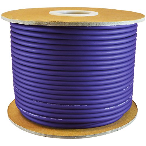 (GLS AUDIO Bulk Microphone Cable 300' Purple Mic -300ft Signal mike cable)