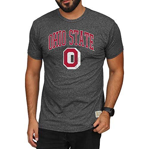 Elite Fan Shop Ohio State Buckeyes Retro Tshirt Charcoal - M
