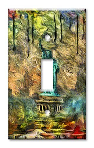 Liberty Of Faceplate Statue - Art Plates Brand Single Gang Toggle Switch/Wall Plate - Statue of Liberty Abstract