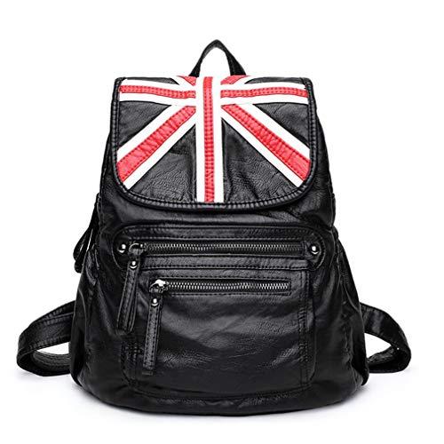 Women Sheepskin Leather Backpack Fashion Teenager School Laptop Bags Casual Shopping Bag