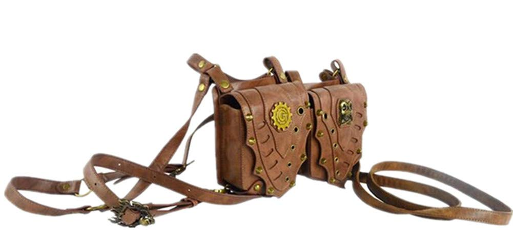 Zhang chen fu Damen europäische und amerikanische Steampunk Tasche Vintage braune Taschen