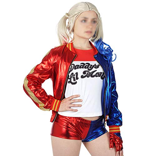 X-DEAD Harley Quinn Costume Little Girls and Women-Slim Fit (M=120cm.(6-8years) -