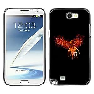 TECHCASE**Cubierta de la caja de protección la piel dura para el ** Samsung Galaxy Note 2 N7100 ** Red Phoenix