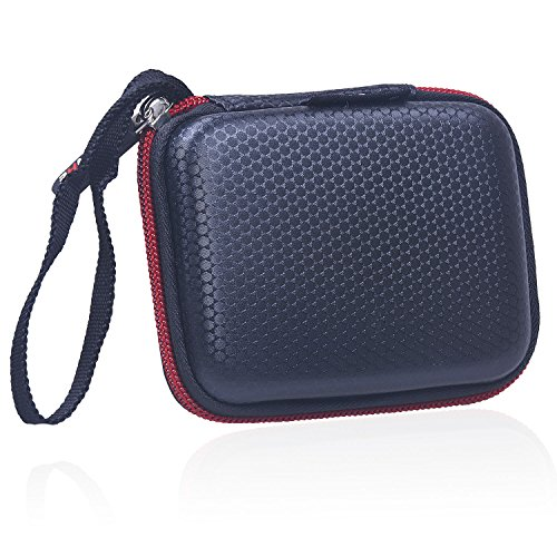 Rancco Samsung T5 T3 SSD Case Water-resistant Carrying Bag, Hard EVA Shockproof Travel Protective Cover Pouch for Samsung T5/ T3/ T1(250G 500G 1T 2T) Portable SSD Hard Drive