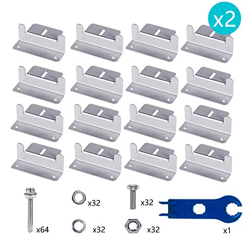 - Wigbow Solar Panel Mounting Z Brackets with Nuts and Bolts - for RV, Boat, Roof, Wall and Other Off Gird Solar Panel Mounting (8 Sets)