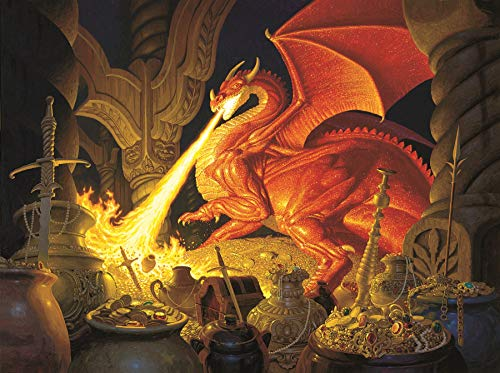 Smaug Dragon a 1000-Piece Jigsaw Puzzle by Sunsout Inc. - Lord Of The Rings Puzzle