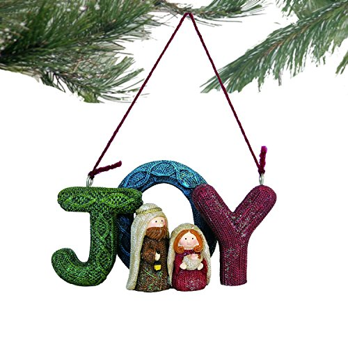 Lee's Home Nativity Knitting Finish ''Joy'' with Holy Family Ornament by Lee's Home (Image #2)