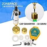 ZONEPACK Pneumatic Bottle Capping Machine Hand Held Screwing Capping Machine Manual Capping Machine Aircrew Driver Bottle Capper Tools