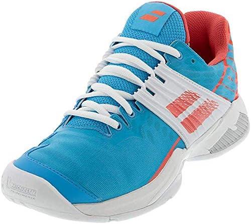 Babolat Femmes Propulse Fury Allcourt Chaussures De Tennis Chaussure Tout Terrain Bleu - Blanc 41
