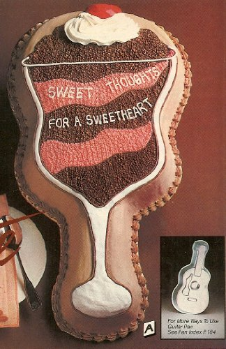(Ice Cream Sundae / Parfait Cake ~ Uses Wilton Guitar Cake Pan ~ Instructions Included with Pan)