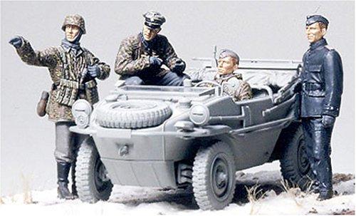 Tamiya 300035253–1:35WWII Figurine Set, Swimmwagen Amphibious Car (4)
