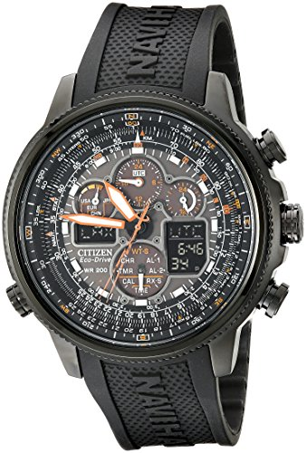 (Citizen Men's Eco-Drive Navihawk Atomic Timekeeping Watch,  JY8035-04E )