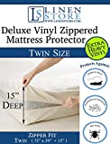 Best Linen Store For Bed Bugs - Heavy Duty PVC Vinyl Mattress Protector Cover, Hypoallergenic Review