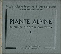 Piante Alpine Valbusa U Amazon Com Books