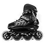 MammyGol Adjustable Inline Skates Adults Mens Hockey Roller Skates with Giant Wheels for Teens Size 9-11 US
