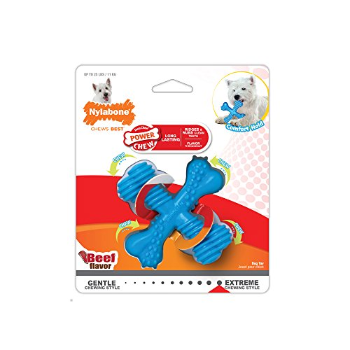 Nylabone Power Chew Dura Chew X Bone, Beef Flavored Dog Chew Toy