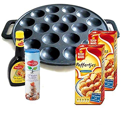 - Cast Iron Poffertjes Pan Gift Set. Dutch Pancakes. Great Gift!