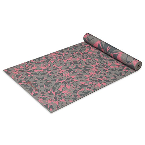 Gaiam Yoga Mat Premium 6mm Print Reversible Extra Thick
