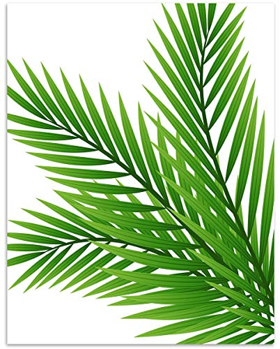 Tropical Fern Leaf Wall Art. 11x14 Unframed Decor Print - Makes a Great Gift for Botanical, Plant Lovers. -