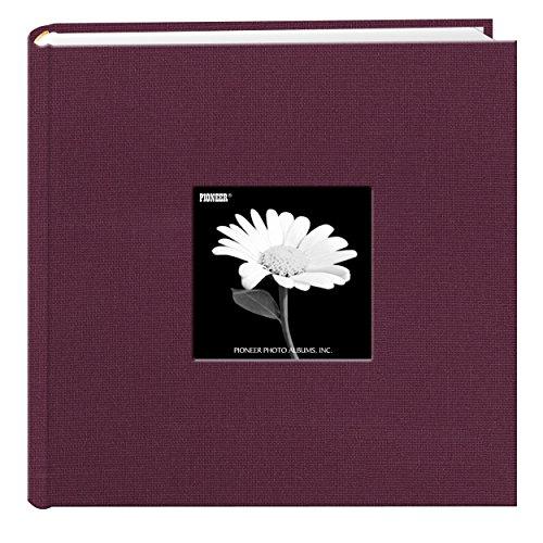 Fabric Frame Cover Photo Album 200 Pockets Hold 4x6 Photos, Sweet (Plum 4x6 Area)