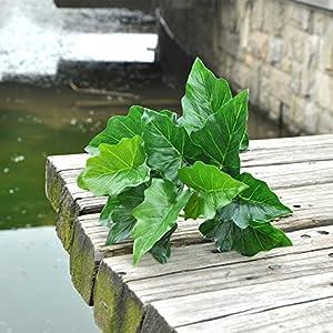 FYYDNZA New Arrival Plant Vegetation 1 Pc Artificial Silk False Leaf Green Hanging Plants For Home Decoration 12 Sheets 49