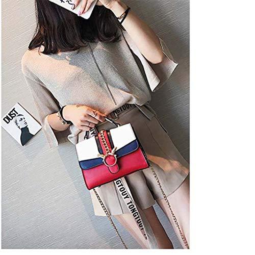 Pink color Piccola Tracolla Femminile White Wnglei Nuova Borsa Red Quadrata A With qF8wxXw0
