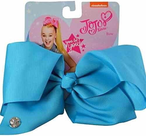 JoJo Siwa Large Cheer Hair Bow (Basic Blue)