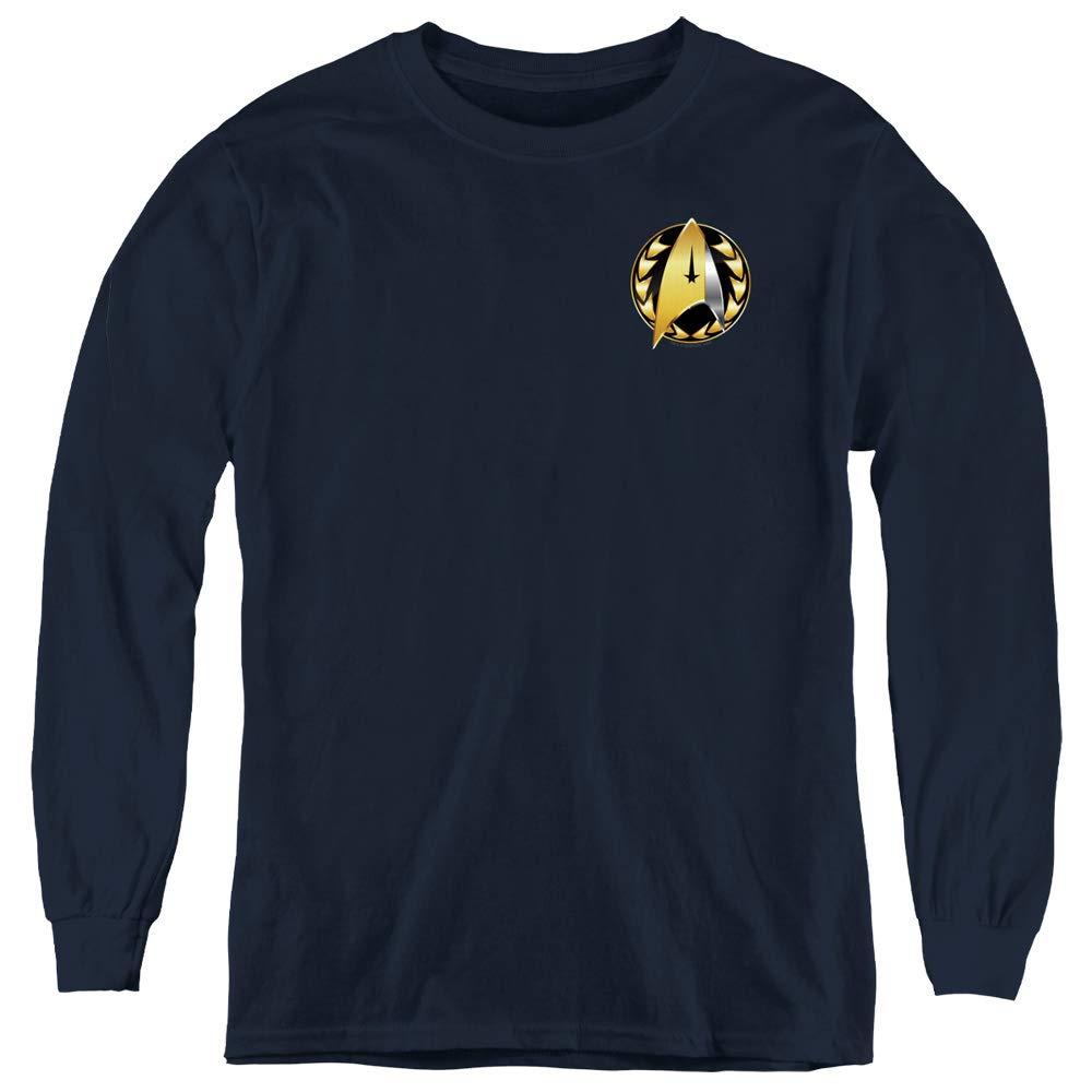 A E Designs Star Trek Shirt Discovery Admiral Badge Navy Tee