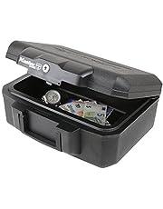 Caja refractaria para documentos Master Lock L1200, 36,2 x 28,4 x 15,5 cm, color negro