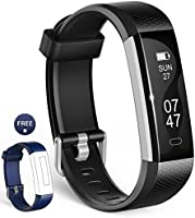 Fitness Tracker, Wesoo K1 Fitness Watch : Activity Tracker Smart Band with Sleep Monitor, Smart Bracelet Pedometer Wristband with Replacement Band for iOS & Android