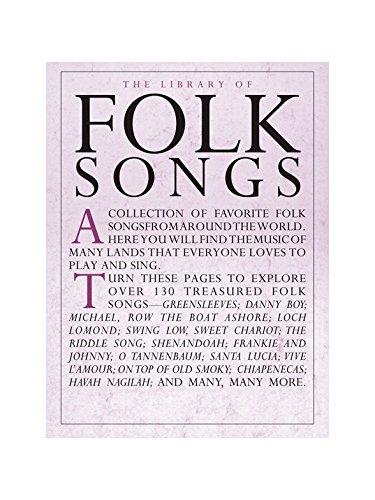 The Library Of Folk Songs. Partituras para Piano, Voz y Guitarra ...
