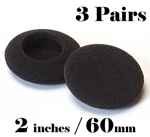 SOFTROUND Foam Pad Ear Cover for Philips Sony Headphones-3pairs of 2-5/16-Inch T-012-6P (Foam Pads For Headphones compare prices)