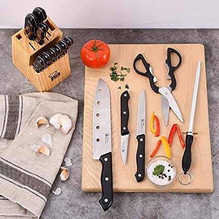 Renberg Set de 15 Cuchillos con Tacoma de Madera