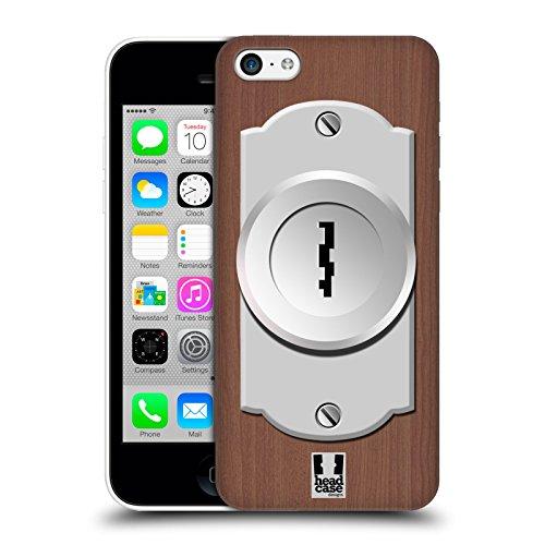 Head Case Designs Porta Buchi Della Serratura Cover Retro Rigida per Apple iPhone 5c