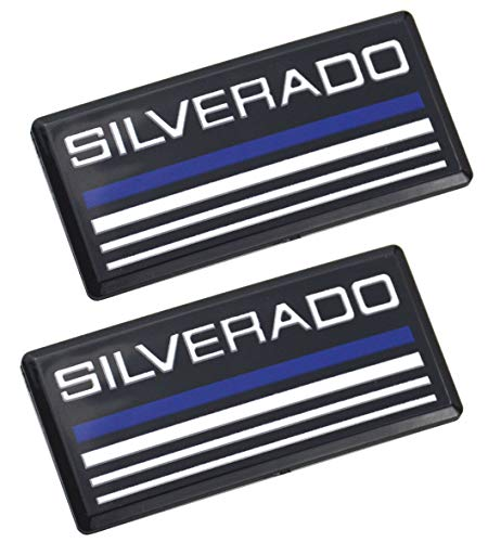 2pcs Silverado Cab Emblem Badge Side Roof Pillar Decal Plate Replacement for Silverado Chevy 88-98 90 91 Suburban Tahoe C/K Series Blazer ()