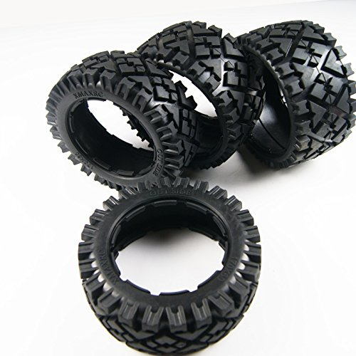 Hpi Baja 5b Ss (Front and Rear All Terrain Tire Tyre fit 1/5 HPI KM Baja 5B SS Rovan Buggy by XmaxRc)