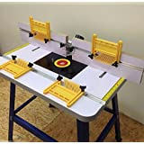 PRO ROUTER TABLE BENCH - FLOOR STANDING WITH FEATHER BOARDS INCLUDED