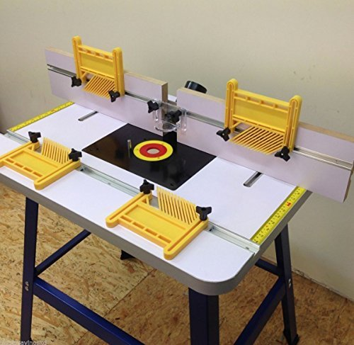 Woodworking router table amazon pro router table bench floor standing with feather boards included greentooth Gallery