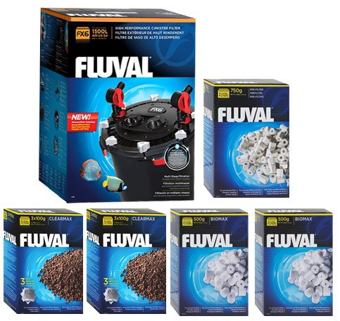 fluval fx6 a219 filter w biomax phosphate remover pre filter