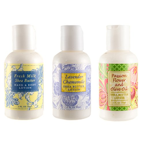 Greenwich Bay Trading Co. Shea Butter Mini-Lotions Travel Gift Set, 3-Pack
