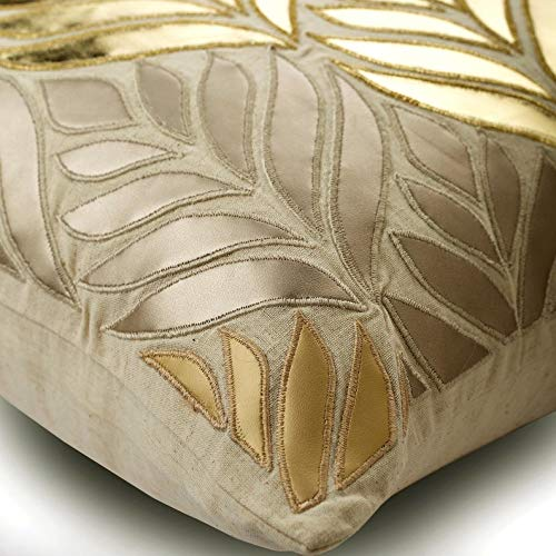 The HomeCentric Gold Kissenbezüge Kissenbezüge Kissenbezüge 40 x 40 cm, Leder Kissenbezug, handgemachte Dekokissenbezug Gold - Foil Maple B079GZ5BQG Zierkissenbezüge 51a833