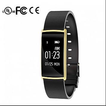 Fitness Tracker Pulso Reloj Tensiómetro de dormir sentada Recuerdo podómetro Distancia contador de calorías llamada SMS SNS para iOS Android Teléfono Móvil: ...