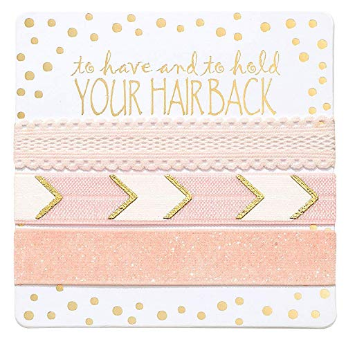 Bridesmaid Gifts, Bridesmaid Proposal Bachelorette Party Supplies Bridal Shower Hair Ties Kit (6 x 3pc Set, Pink) ()