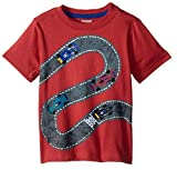 Gymboree Toddler Boys' Short Sleeve Travel Print Tee, Soft Red, 18-24 Mo