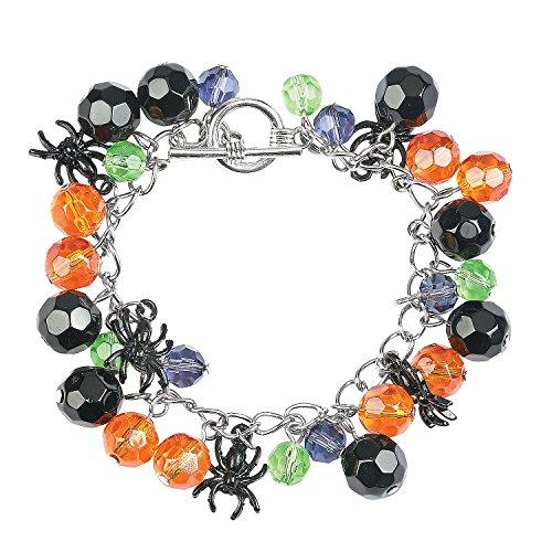 Fun Express - Spooky Spider Bracelet Craft Kit for Halloween - Craft Kits - Adult Jewelry Craft Kits - Adult Bracelet - Halloween - 2 Pieces -